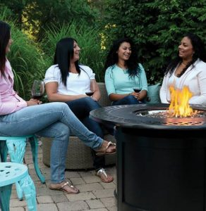 Extend your outdoor living time with a Patio flame table or outdoor fireplace.