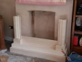Preparation & installation of fireplace
