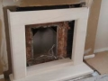 Installation of fireplace