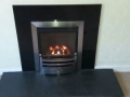 Finished new inset gas fire