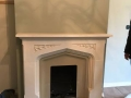Original fireplace before installation started