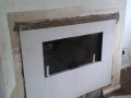 Gazco 80 electric fire is inset into the Chimney