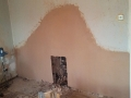 Back wall prepared after plastering