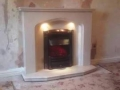 Installation of Micromarble fireplace