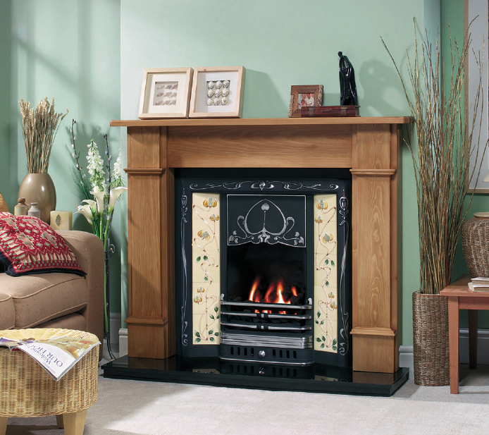 Cast iron fireplaces stoke gas electric fireplace centre for Fireplace surrounds for gas fires