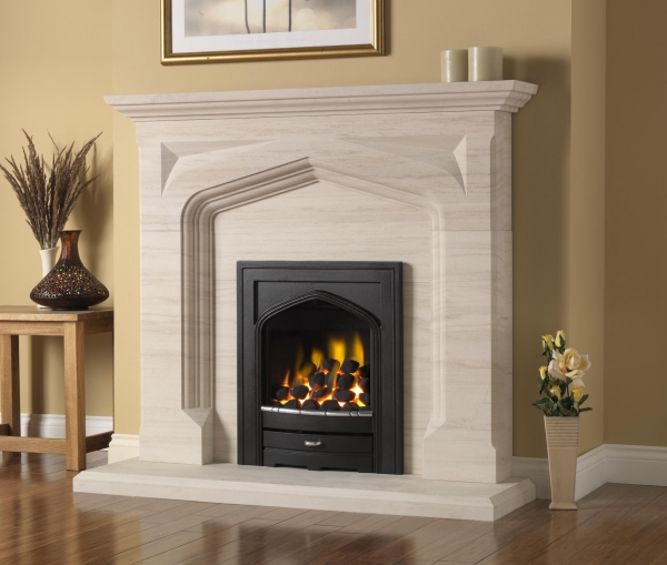 limestone stone fireplaces stoke gas electric