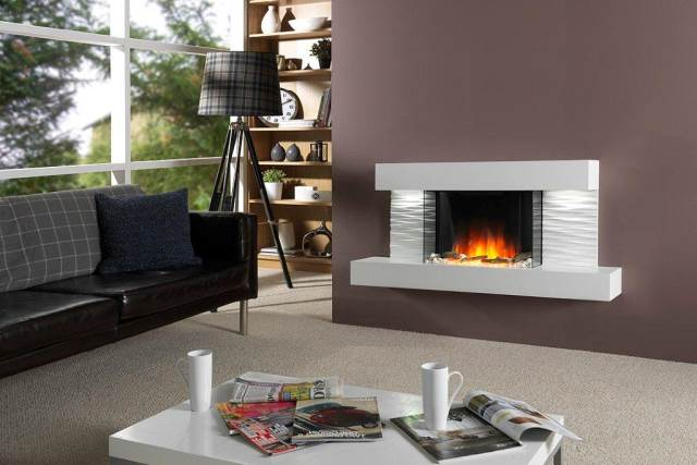 Electric Hang on the Wall Fires   Stoke Gas & Electric Fireplace ...
