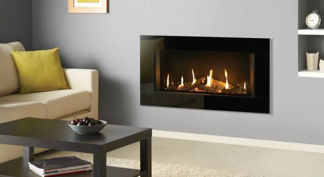 Decoflame Ellipse Flueless Fire: Stoke Gas & Electric Fireplace