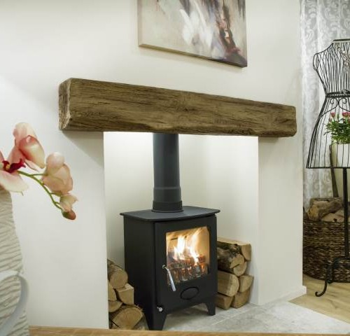 Newman Fireplaces Oak Effect Stone Beams Clovelly