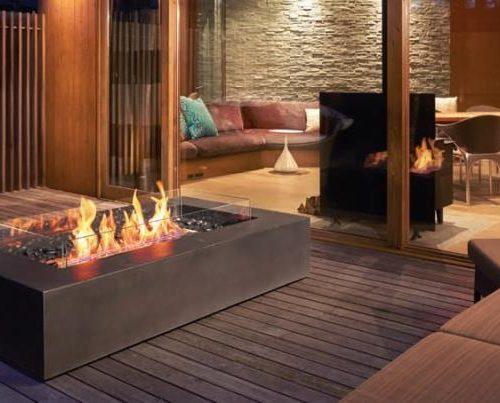 Wharf outdoor fireplace