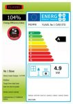 Energy label No 1 curved