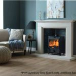 FP5W Aylesbury Grey Sate Liners Limestone Back Hearth