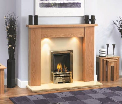 Bromley Fireplace Clear Oak