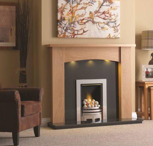Didsbury Clear Oak Fireplace