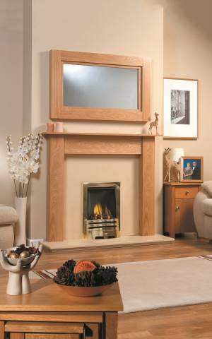 Durham Fireplace & Newark Mirror