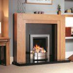 Henley fireplace Clear Oak