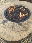 Elementi – Close up stump fire pit