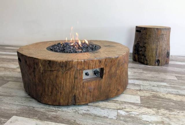 Elementi Burning Stump Stoke Gas Amp Electric Fireplace