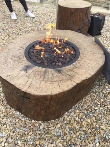 Elementi Burning Stump Stoke Gas Amp Electric Fireplace