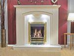 Newman Mertola Arch Fireplace