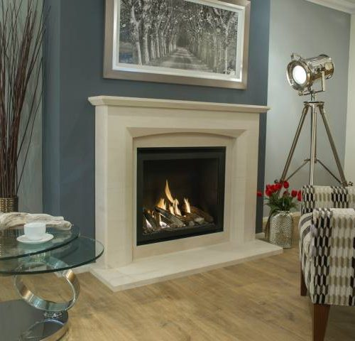 Newman Eco Ultra vision with Mereta fireplace