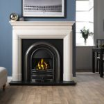 Penman Vermont limestone fireplace