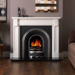 Penman Verona Limestone fireplace