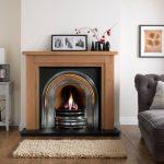 Penman Calabria Natural Oak Fireplace