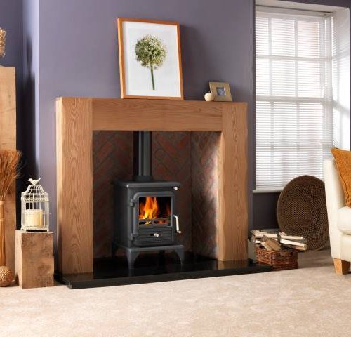 Penman Albero Natural Oak fireplace