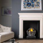 Penman Teramo limestone fireplace