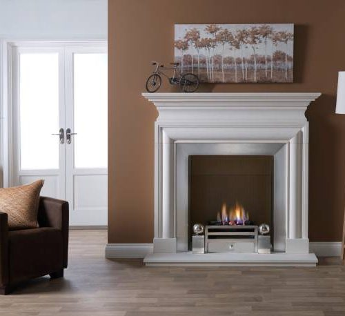 Penman Avellino Limestone fireplace