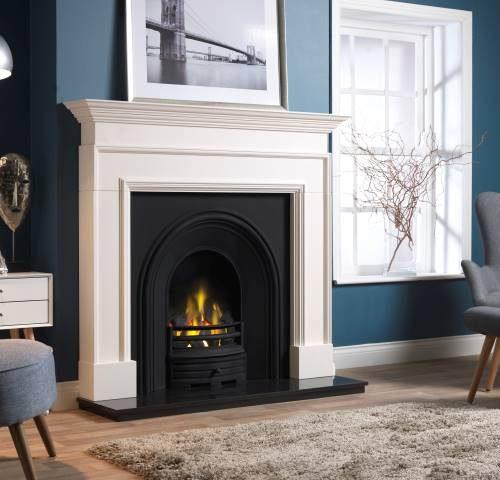 Penman Cortese Limestone fireplace