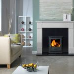 Penman Velletri limestone fireplace
