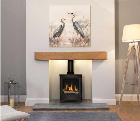 Newman Fireplaces Oak Effect Stone Beams Telford Stoke Gas