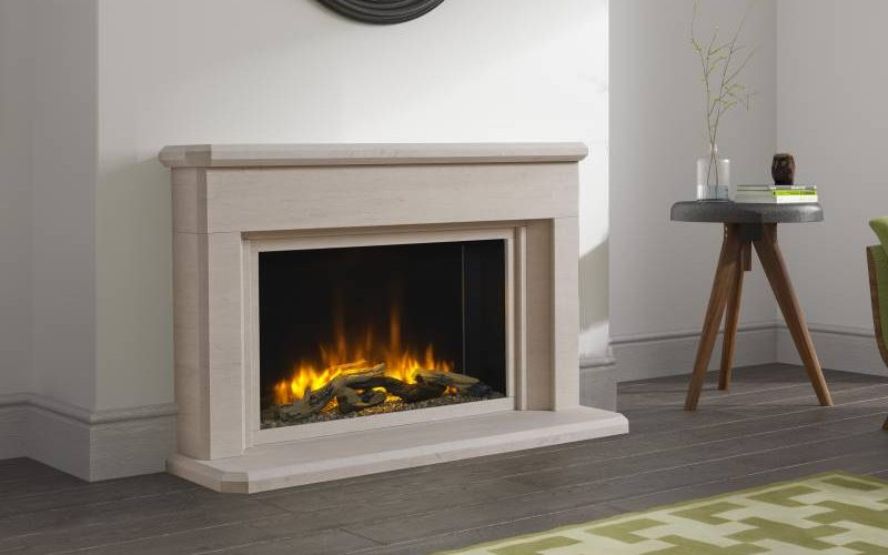 Designer Flat Wall Electric Fireplaces