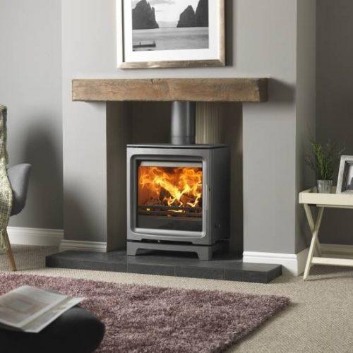 Purevision Pv5W Slimline multi fuel stove