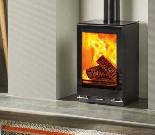 Vision Small T Wood burning stove recessed