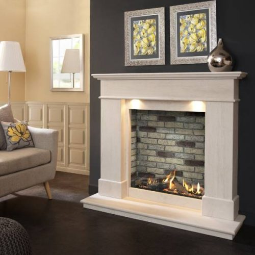 Boticelli Illumia Slimline Balanced Flue Gas Fire Suite Brick