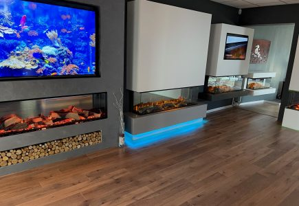 Staffordshire Largest Media Wall Fireplace Showroom